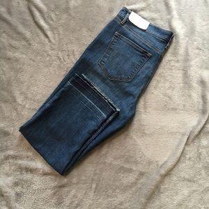 LOFT super cute raw hem cropped jeans!